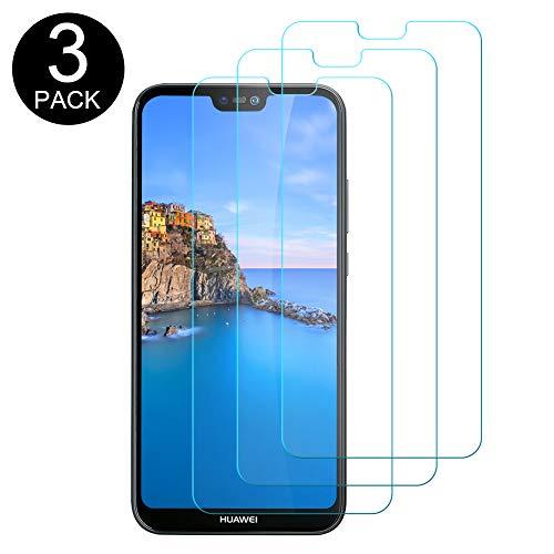 Hanbee Vetro Temperato Huawei P20 Lite Pellicola [3 Pezzi], Pellicola Protettiva Screen Protector per Huawei P20 Lite [Nessuna Bolla] [Compatibile con Custodia]