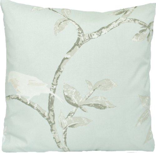 Birds Duck egg Decorative Throw Pillow Case Bird Cage Cushion Cover Nina Campbell Fabric Walk Printed Cotton by Nina Campbell -