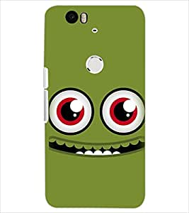 PrintDhaba SMILEY D-6548 Back Case Cover for HUAWEI NEXUS 6P (Multi-Coloured)