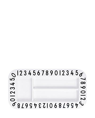 Design Letters AJ melamin rectangular snackplate