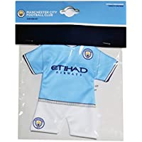 Manchester City F. C. Manchester City FC Camiseta de fútbol Coche Mini Kit Perchero