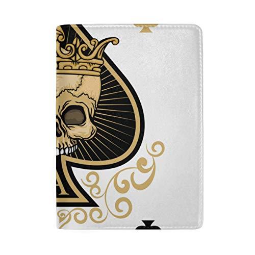 Das Pik-Skelett Trump In Poker Blocking Print Passinhabers Hülle Reisegepäck Passport Wallet Kartenhalter Aus Leder Für Männer Frauen Kinder Familie