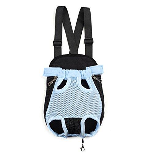 Imagen de icase4u®  práctica y bonita bolsa portátil para perro pequeño yorki gato mascota ideal para viajes al aire libre de senderismo azul 1#, xl