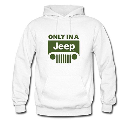 HGLee Printed Personalized Custom Jeep Women's Hoodie Hooded Sweatshirt white