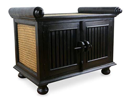 Asia Wohnstudio Asiatisches Rattansideboard, TV-Bank HiFi-Sideboard der Marke, asiatische Phono Möbel, Sitzbank, (klein)