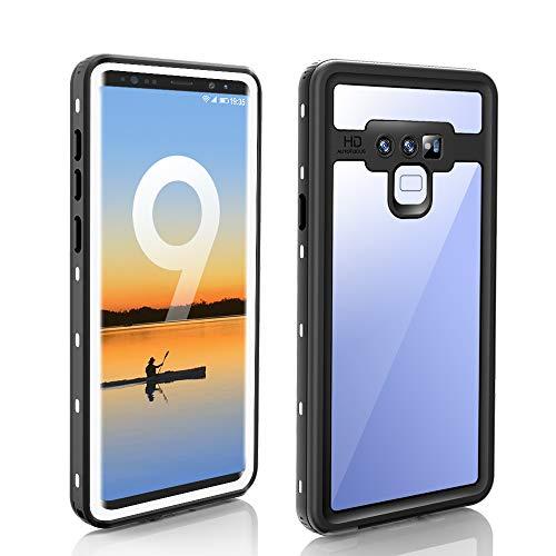 ZERMU Schutzhülle für Galaxy Note 9, wasserdicht, stoßfest, schneefest IP68, Unterwasserschutz, kristallklar, integrierter Bildschirmschutz, wasserfest, für Samsung Galaxy Note 9, weiß