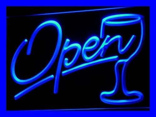 Pema PEMA Projecteur Lumière Open avec verre à vin neonlight I536 de B lumière Publicité