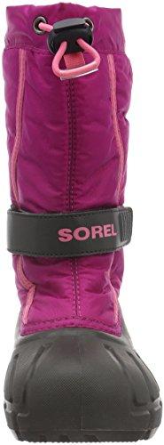 Sorel Youth Flurry, Bottes mixte enfant Rose (Deep Blush/Tropic Pink 684)