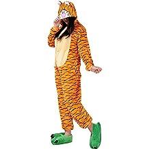 Moollyfox Kigurumi Pijamas Unisexo Adulto Traje Disfraz Adulto Animal Pyjamas Tiger L
