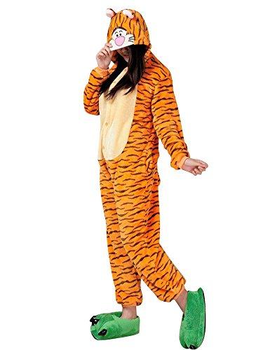 MissFox Kigurumi Pyjama Erwachsene Anime Cosplay Halloween Kostüm Kleidung Tiger (Halloween Für Tiger Kostüm)