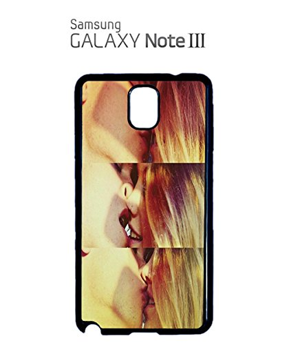 Sexy Kiss Lesbian Straight Mobile Phone Case Back Cover Coque Housse Etui Noir Blanc pour for Samsung Note 3 White Blanc