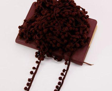 Dunkelbraun Pom Pom Trim Trimmen Nähen Craft Pro Meter 10mm Bobble Fransen Pompon Qualität Großbritannien von Zubehör Dachboden® -