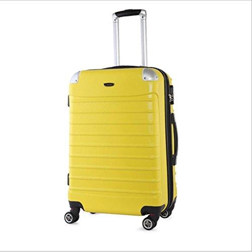 Xiuxiandianju 20 pollici 24 pollici 28 pollici ruota universale leva ABS angolo impermeabile retro valigia viaggio bagaglio di viaggio (una valigia dimensioni & colore diverso) , yellow , 20 inch