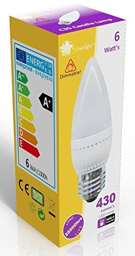 starlight-gu10-dimmable-led-ampoule-flamme-opaque-avec-culot-vis-e27-blanc-jour-6400-k-quivalentes-d