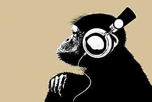 Empireposter–The Chimp–Bonobo Headphone–Taille (cm), env. 91,5x 61–poster -
