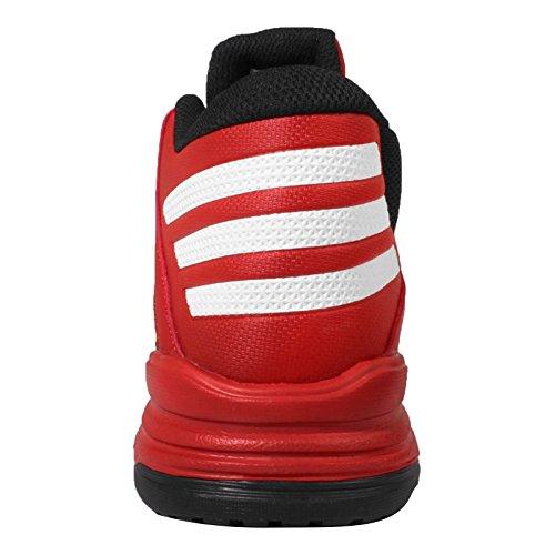 adidas First Step, Chaussures de Sport-Basketball Homme Rouge / Blanc / Noir (Escarl / Ftwbla / Negbas)