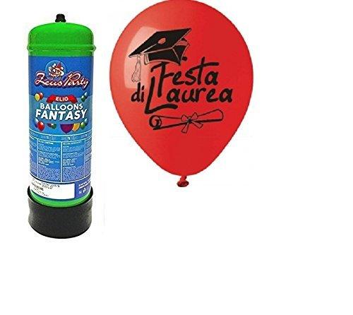 eurotre OFFERTA PER FESTE-BOMBOLA DI GAS ELIO DA 2,2 LITRI + 50 PALLONCINI A SCELTA TEMI VARI (FESTA DI LAUREA)