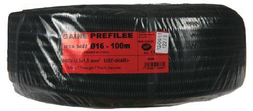 janoplast jan002886vorverdrahtet Kabel 100m Durchmesser 16mm 3G 1,5mm -