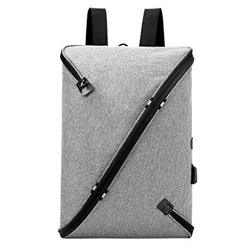 Produp Herrenmode USB Rucksack Umhängetasche Shaped Rucksack Computer Tasche Umhängetasche Kordel...