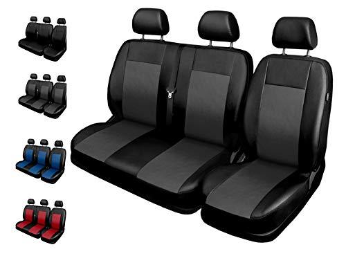 Sitzbezüge Auto 1+2 Transporter Autositzbezüge Schonbezüge Vorne mit Airbag System Comfort - Grau