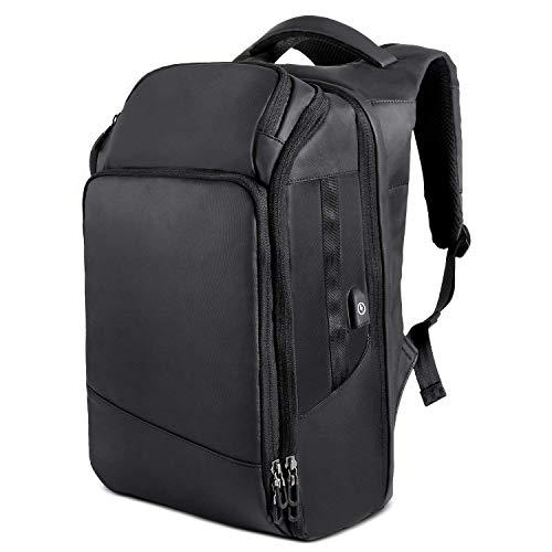 MUTANG Borsa da viaggio resistente all'acqua per laptop Zaino grande elegante con porta USB per il tempo libero Borsa sportiva per il tempo libero nera
