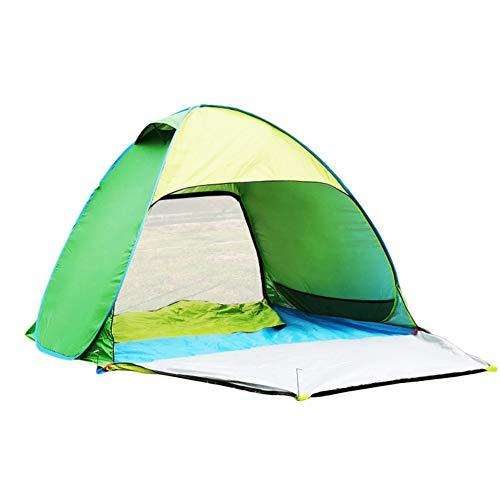 TonXiory 3-4 Personen Camping Zelt,Wasserdichte automatische popup-Outdoor-Sportarten kuppelzelt Camping Sonne unterstände-grün 200x150x135cm(79x59x53inch)