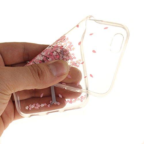 iPhone 6S Hülle,iPhone 6 Hülle,iPhone 6 6S Silikon Hülle [Kratzfeste, Scratch-Resistant], Cozy Hut iPhone 6 6S (4,7 Zoll) Hülle TPU Case Schutzhülle Silikon Crystal Kirstall Clear Case Durchsichtig, F Kirschbaum