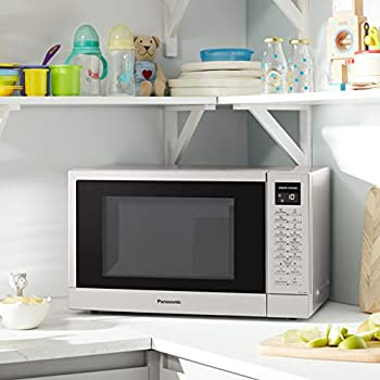 Panasonic NN-ST48KSBPQ Solo Inverter Microwave Oven with Turntable, 32 Liters, Silver