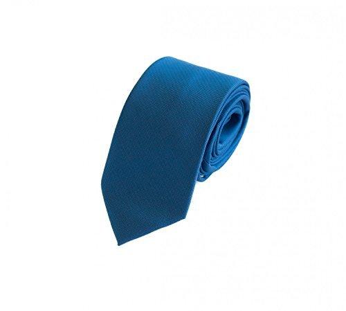 Schmale Krawatte von Fabio Farini in blau