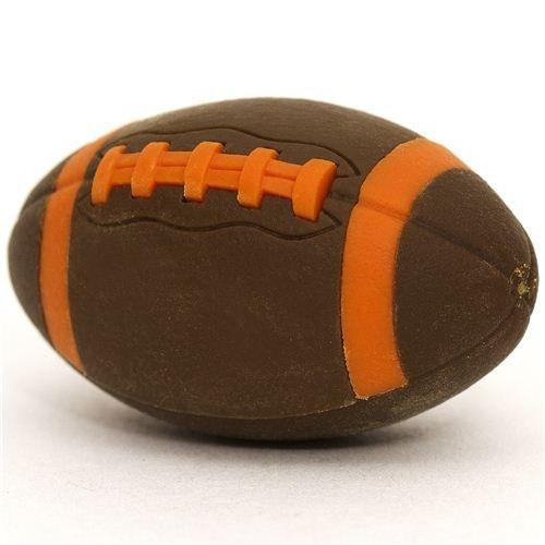 cooler dunkelbrauner Radiergummi American Football