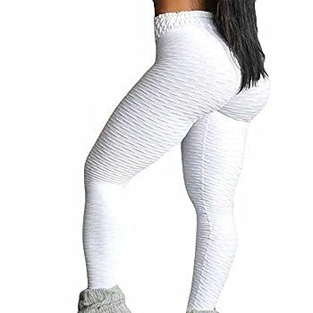 LEvifun Pantalons De Yoga Coutures Mode Femmes Leggings Taille Haute Élastique Longue Plier Solide Chic Yoga Course Running Fitness Sports Pantalons Trousers Pants pour Femmes