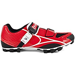 Spiuk Risko MTB - Zapatillas Unisex, Color Rojo/Blanco, Talla 41