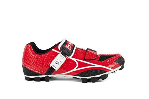Spiuk Risko MTB - Zapatillas unisex, color rojo / blanco, talla 49