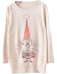 Maglione Natale Da donna batwingManica lunga Colore sciolto knit Maglieria Top,Christmas Sweater Knitwear Tops Rawdah