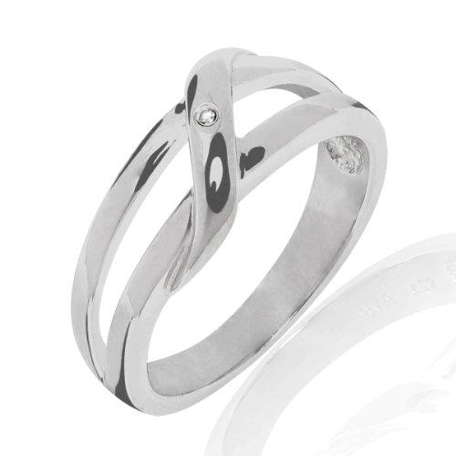 Secret Diamonds - Anillo - 925 Plata esterlina - complementos de mujer - En diferentes tamaños, Anillo de Plata esterlina, Joyería de plata, Joyas con Diamantes - 60250114