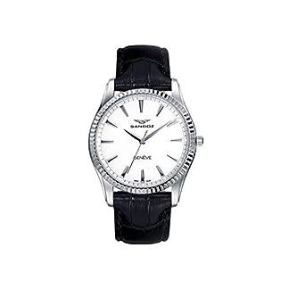 Sandoz Classic 81308-00 – Reloj de mujer, de acero , con correa de piel color negro, con cristal de zafiro y maquinaria Suiza.
