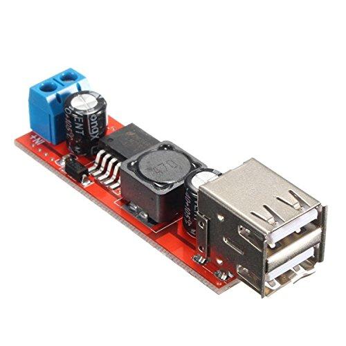 Ils - Dual USB 9V/12V/24V/36V to 5V Converter DC-DC 3A Step Down Power Module -