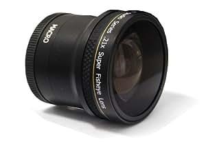 Objectif super fisheye .21x 52/58 mm de Polaroid Studio Series avec fixation macro, inclut une housse d'objectif et les couvercles d'objectif