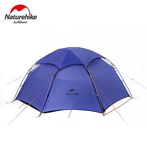 Kimtime tenda da campeggio pieghevole esterna impermeabile tenda per 2persone, colore: verde/blu, uomo bambino donna, blue