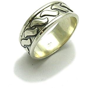Sterling silber ring band 925 Empress Größe 47 - 75