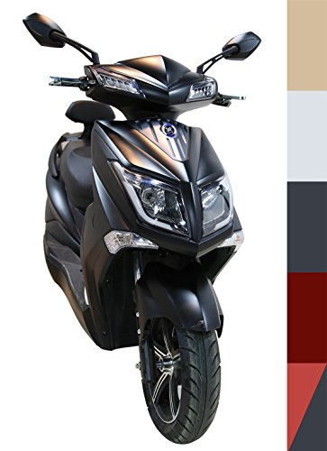 Elektroroller'Hawk 3000 Li', 3000 Watt, bis zu 60 KM Reichweite, herausnehmbarer Lithium Akku, 72V20Ah 45 km/h, 5 mögliche Farben, Betriebskosten von ca. 85 Cent pro 100 Kilometer, steuerfrei, E Scooter, kostenlose Probezeit, Schwarz