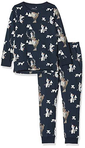 NAME IT Baby-Jungen NMMOLAF FINLO Nightwear WDI Zweiteiliger Schlafanzug, Blau (Dark Sapphire Dark Sapphire), (Herstellergröße: 104)