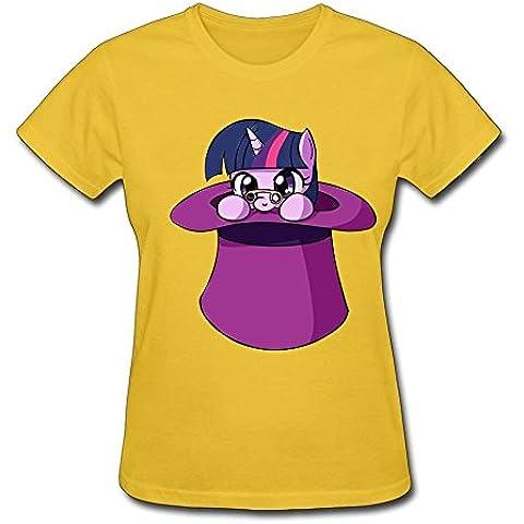 T centro crepúsculo en un sombrero de copa Tee camisas para mujer manga corta