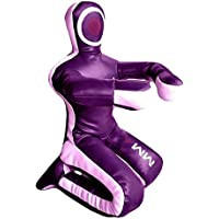 Bestzo MMA Jiu Jitsu Judo Punching Bag Grappling Dummy Purple/Pink Sitting Position Hands on Front Canvas- 48 inches-Unfilled