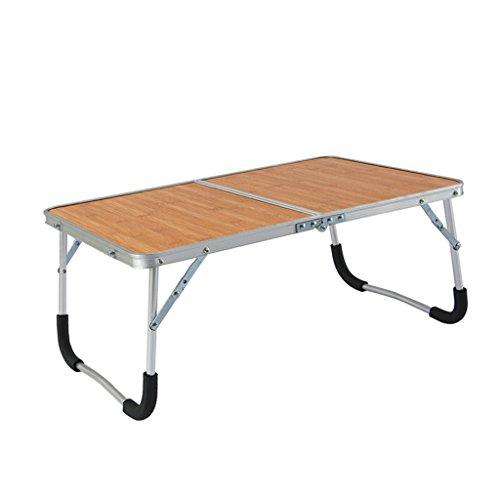 Meng Wei Shop Aluminiumlegierung Klappcomputer Schreibtisch Bett Frühstückstisch Portable Laptop Tisch (Color : Wood) - Portable Shop Schreibtisch