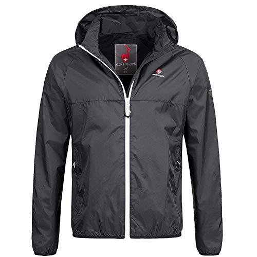 Höhenhorn rigi giacca da pioggia per uomo giacca da pioggia per esterno giacca da pioggia con cappuccio (l, nero/bianco)