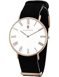 BLACK OAK Reloj con movimiento cuarzo japonés Man BX5680R-127 40 mm