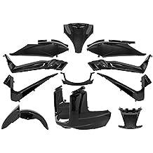 Tntor - Kit adaptador de carrocería Yamaha Xmax 125/250 cc, 11 piezas, color negro Brillante