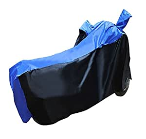Vheelocityin Black and Blue Scooter / Bike Cover For Suzuki Gixxer