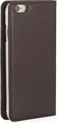 """StilGut Talis, Wallet-Case Schutz-Hülle für iPhone 6s Plus (5.5"""") mit Kreditkarten-Fächern aus echtem Leder. Seitlich aufklappbares Flip Case in Handarbeit gefertigt für das Original Apple iPhone 6s P Kaffee"""